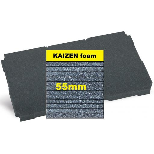 """Kaizen"" Filler foam 55mm - fits Systainer³ L & Midi T-Loc"