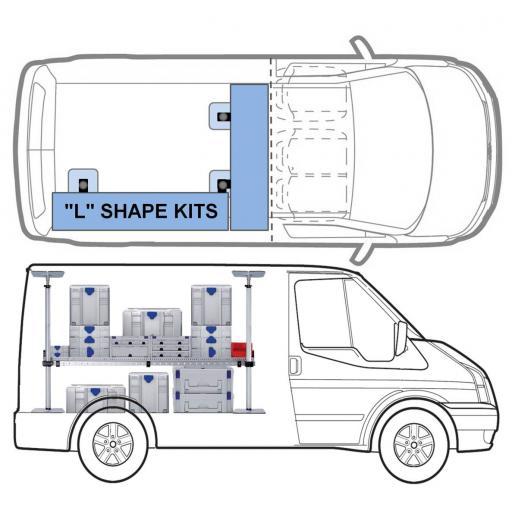 """MINI """"L"""" KIT One Shelf van racking kit"""