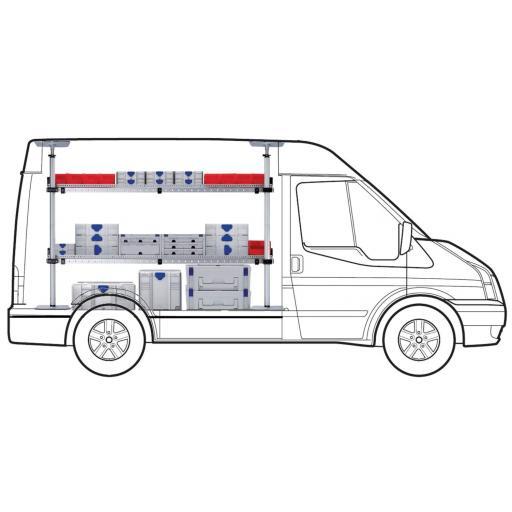 MAXI Two Shelf van racking kit