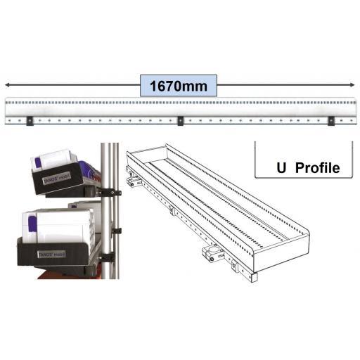 U' Profile Shelf 1670 mm in Length