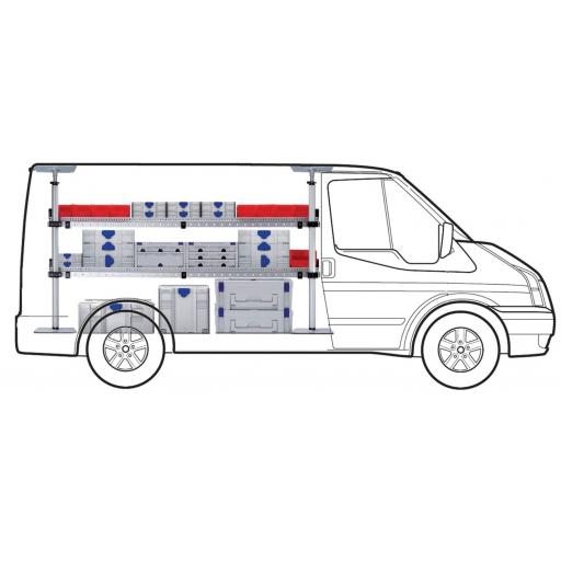 MIDI Two Shelf van racking kit