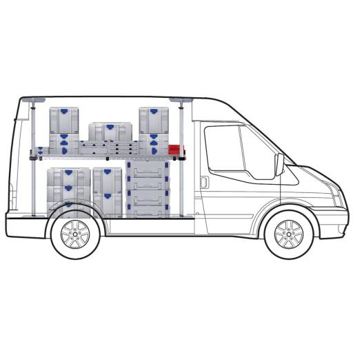 MAXI One Shelf van racking kit