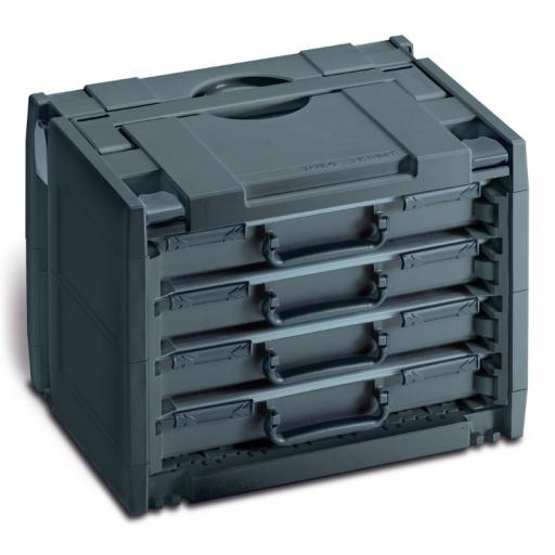 Rack-systainer IV with 4 boxes (Anthracite)